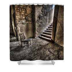 Middle Floor Seating Shower Curtain