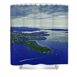 Middle Head And Sydney Harbour Shower Curtain