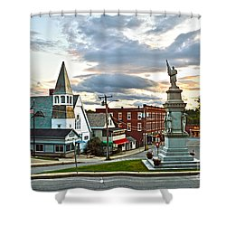 Middlebury Vermont At Sunset Shower Curtain