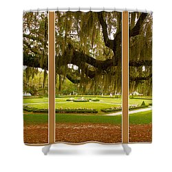 Middleton Gardens Triptych Shower Curtain