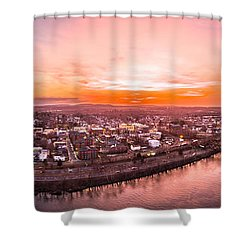Middletown Connecticut Sunset Shower Curtain by Petr Hejl
