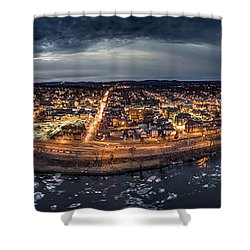 Middletown Ct, Twilight Panorama Shower Curtain by Petr Hejl