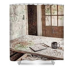 Shower Curtain featuring the photograph Midlife Crisis In Progress - Abandoned Asylum by Gary Heller