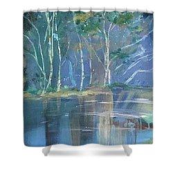 Midnight At Lake Lanier Shower Curtain