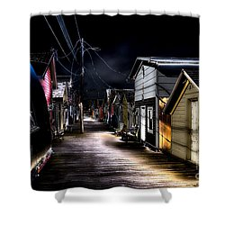 Midnight At The Boathouse Shower Curtain by William Norton