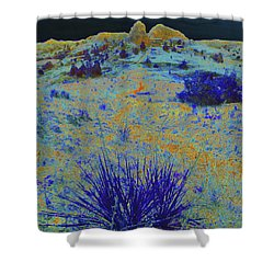 Midnight At The Burning Coal Vein Shower Curtain