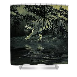 Midnight At The Oasis Shower Curtain