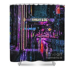 Midnight At Tiffany Painting Shower Curtain