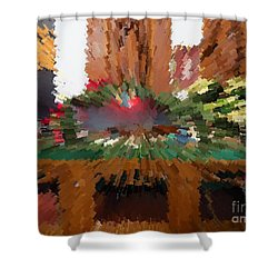 Midnight Blast Shower Curtain