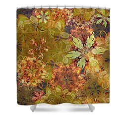 Midnight Blossom Bouquet Shower Curtain