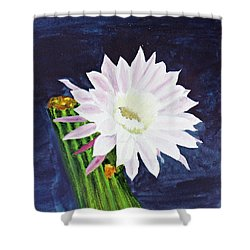 Midnight Blossom Shower Curtain