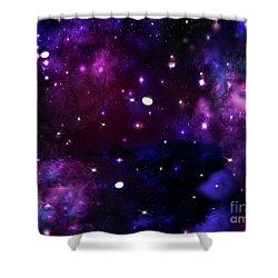 Midnight Blue Purple Galaxy Shower Curtain