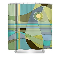 Midnight Breeze Shower Curtain by Val Arie