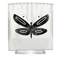 Midnight Butterfly 1- Art By Linda Woods Shower Curtain