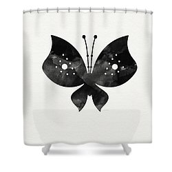 Midnight Butterfly 2- Art By Linda Woods Shower Curtain by Linda Woods