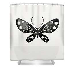 Midnight Butterfly 3- Art By Linda Woods Shower Curtain by Linda Woods