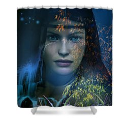 Midnight Gaia Shower Curtain