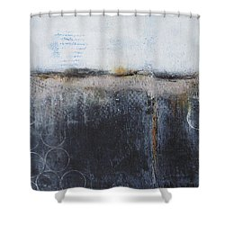 Shower Curtain featuring the painting Midnight Glow by Nicole Nadeau