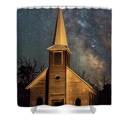 Shower Curtain featuring the photograph Midnight Grove by Darren White