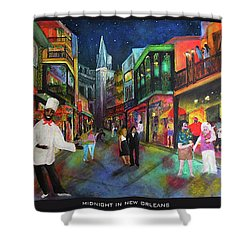 Midnight In New Orleans Shower Curtain