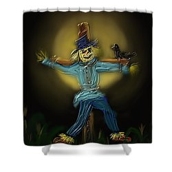 Shower Curtain featuring the painting Midnight In The Cornfield by Kevin Caudill