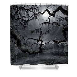 Midnight In The Graveyard II Shower Curtain