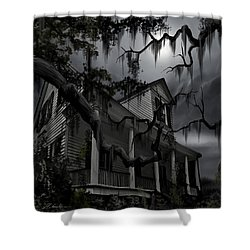 Midnight In The House Shower Curtain