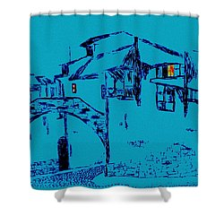 Midnight In Tuscany Shower Curtain