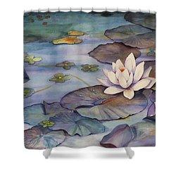 Midnight Lily Shower Curtain by Jun Jamosmos