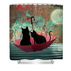 Midnight Love 2 Shower Curtain