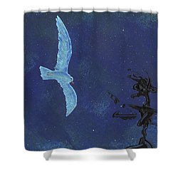 Midnight Shower Curtain