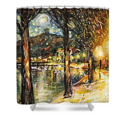 Midnight Reflections Shower Curtain