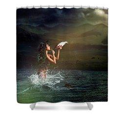 Midnight Release Shower Curtain