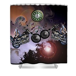 Shower Curtain featuring the photograph Midnight Rider by Amanda Vouglas