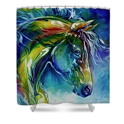 Midnight Run Equine Shower Curtain