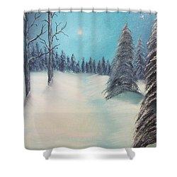 Midnight Silence Shower Curtain by Thomas Janos
