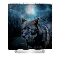 Midnight Spirit Shower Curtain by Carol Cavalaris