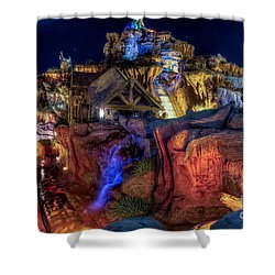 Midnight Splash Shower Curtain