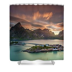 Midnight Sun Galore Shower Curtain