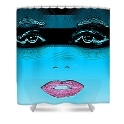 Midnight Swim Shower Curtain by Joy McKenzie