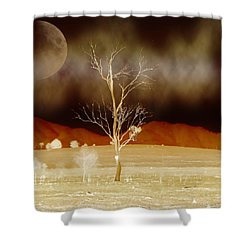 Midnight Vogue Shower Curtain by Holly Kempe