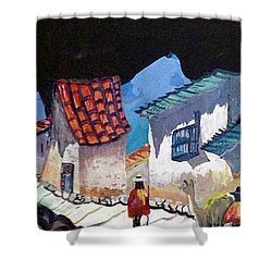 Midnight Walk In Peru Shower Curtain