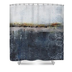 Shower Curtain featuring the painting Midnight Whispers by Nicole Nadeau