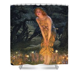 Midsummer Eve Shower Curtain by Edward Robert Hughes