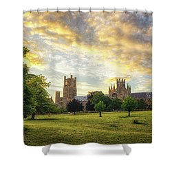 Midsummer Evening In Ely Shower Curtain