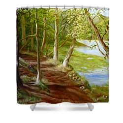 Midsummer Walk Shower Curtain