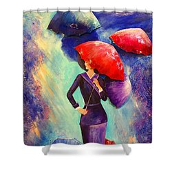 The Purple Lady Shower Curtain
