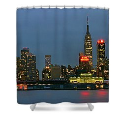 Shower Curtain featuring the photograph Midtown Manhattan by Zawhaus Photography