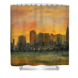 Midtown Morning Shower Curtain