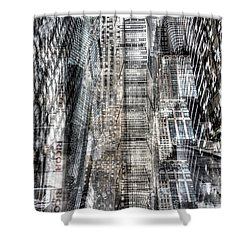 Shower Curtain featuring the photograph Midtown Sidestreet by Dave Beckerman